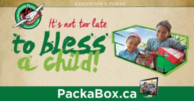 Operation Christmas Child: Buy your school supplies now! image