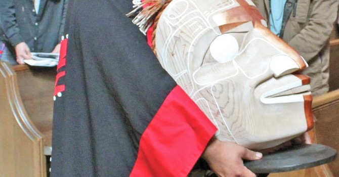 Nisga'a Mask Received by St. James', Vancouver image