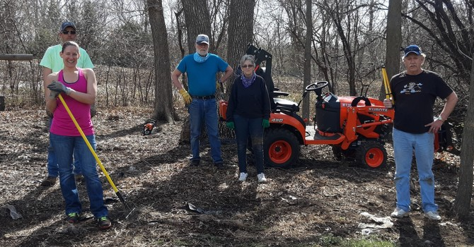 Great Turnout for Strombeck Cemetery Cleanup Saturday, April 25 image
