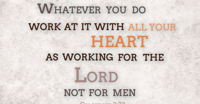 Work as unto the Lord image