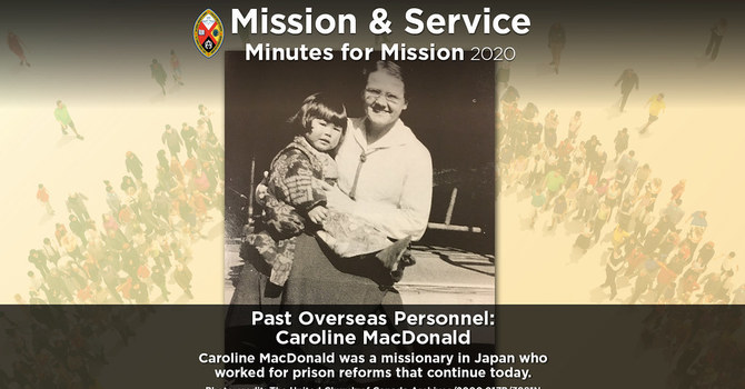 Minute for Mission: Past Overseas Personnel – Caroline Macdonald image