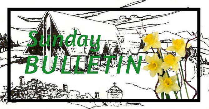 Bulletin - April 15, 2018 image