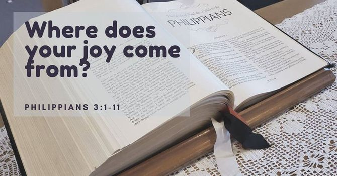 Where does your joy come from?