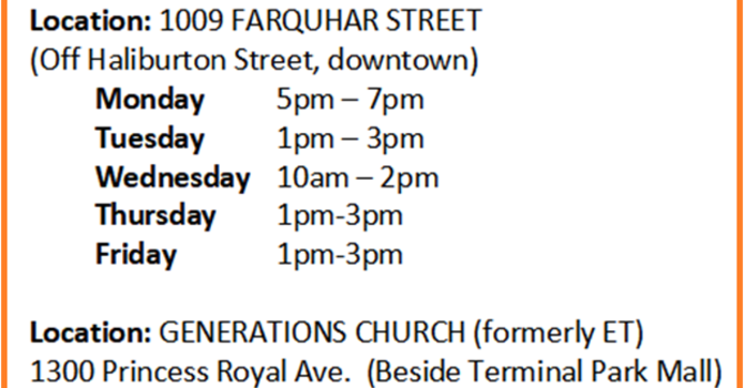 Loaves and Fishes Food Bank Emergency Schedule image