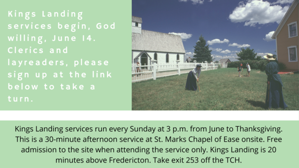Kings Landing summer services