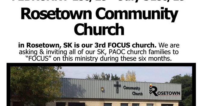 Rosetown - Focus SK Church for Feb-Oct, 2019 image