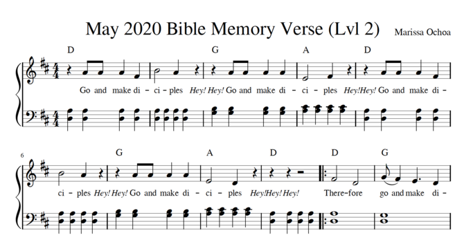 May Memory Verse Sheet Music image