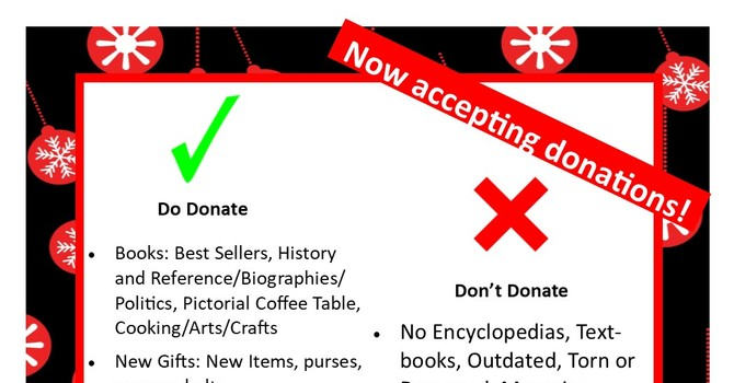 Holly Bazaar- Now Accepting Donations! image