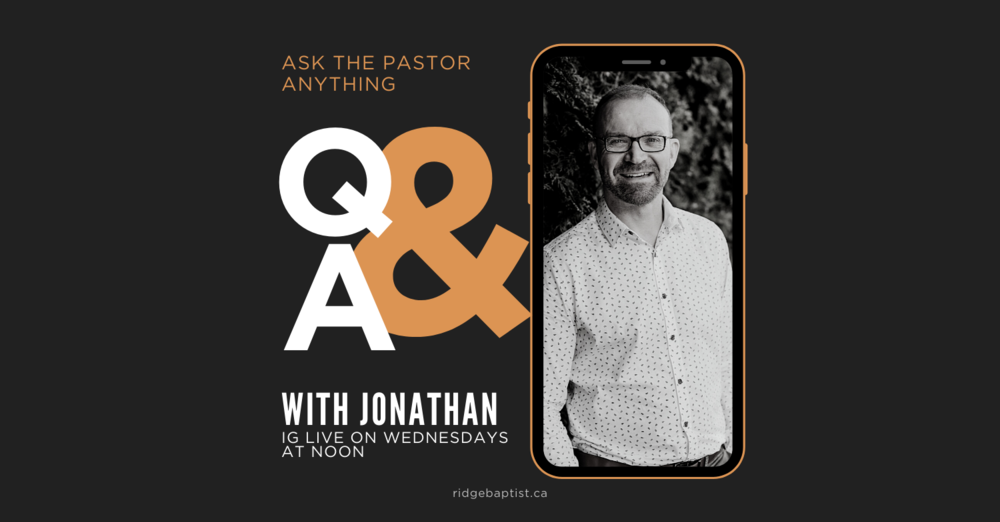 Q&A #askthepastoranything | Wednesday IG LIVE