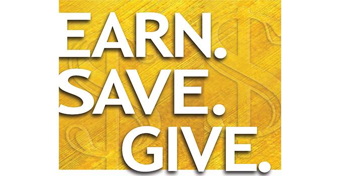 Stewardship 2016:   Earn. Save. Give image