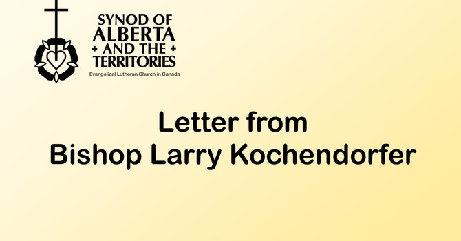 Letter from Bishop Larry Kochendorfer image