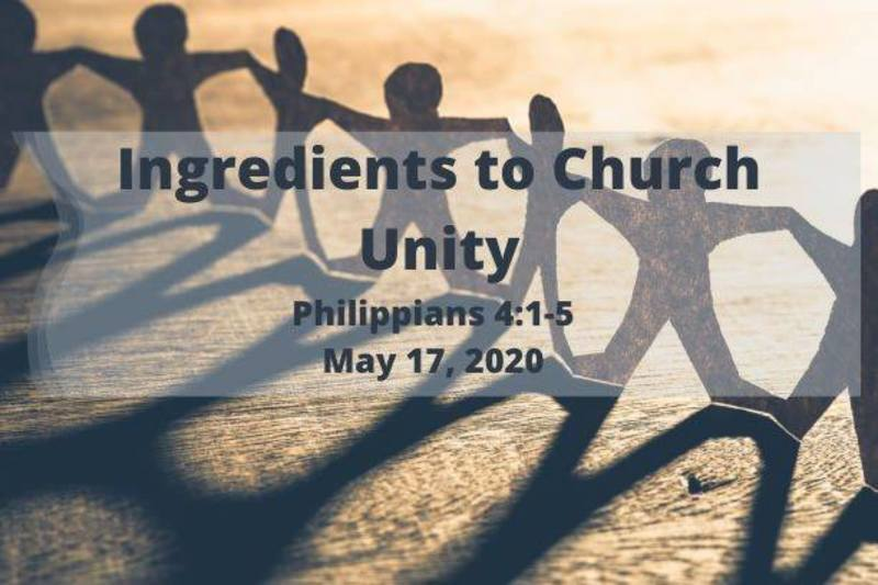 Ingredients to Church Unity