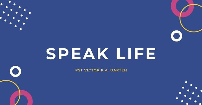Speak Life image