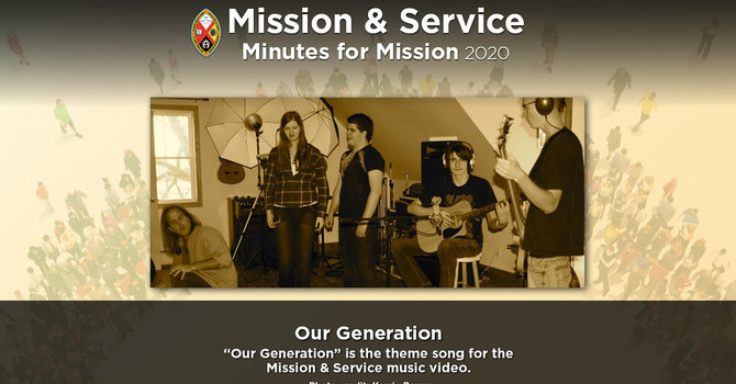 Minute for Mission: Our Generation image