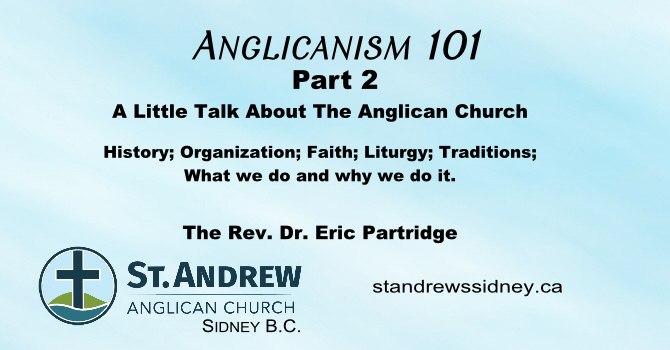 Anglicanism 101 A Series of Short Talks Part 2 image