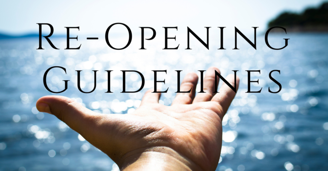 Church Re-opening Guidelines image