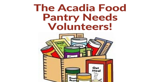 The Acadia Food Pantry Needs Volunteers! image