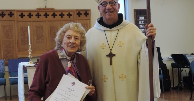 Connie Isherwood Commissioned  Lay Canon of Diocese image