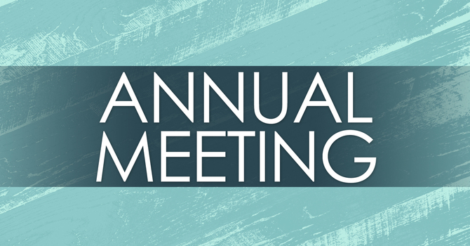 Notice of Annual Meeting to be held Feb 16th image