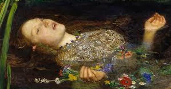Art and Soul for Lent Day 35 - Ophelia image