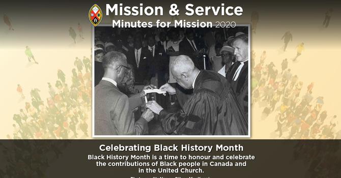 Minute for Mission: Celebrating Black History Month image