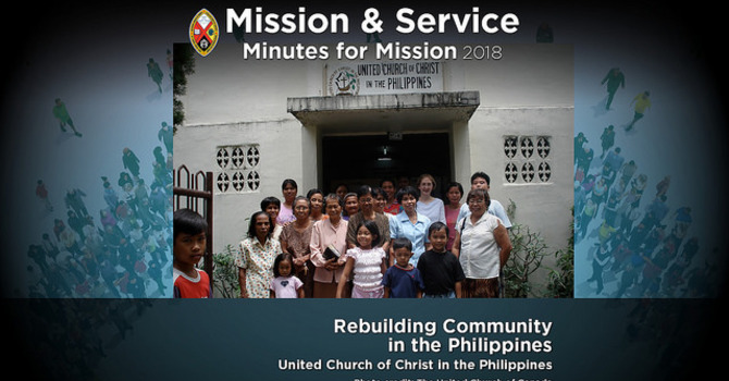 Minute for Mission: Rebuilding Community in the Philippines image