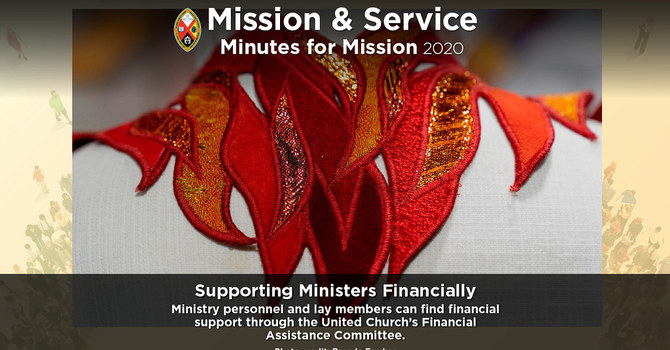 Minute for Mission: Supporting Ministers Financially image
