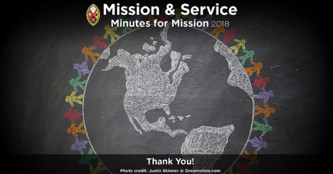Minute for Mission: Thank You! image