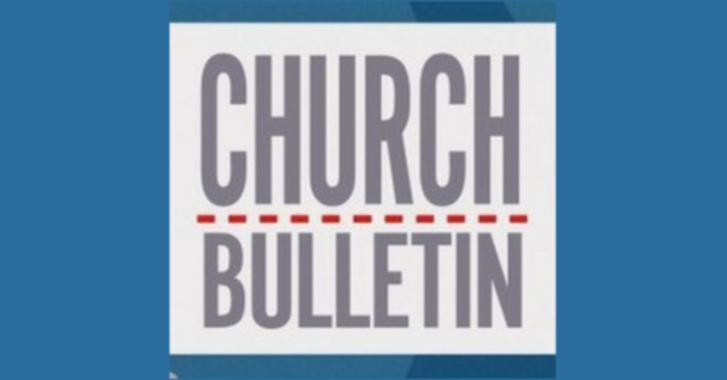 Sunday Bulletin - March 25, 2018