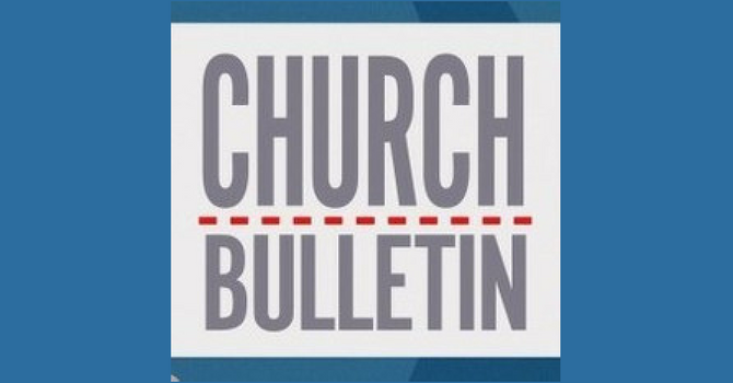 Sunday Bulletin - June 03, 2018