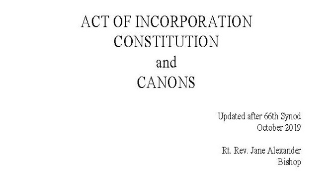 Constitution and Canons Updated after the 66th Synod image