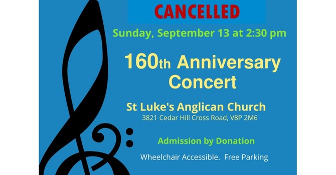 Cancelled - 160th Anniversary Concert