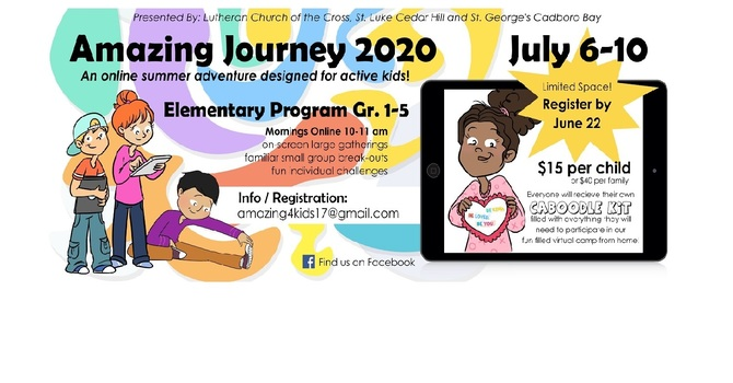 Registration Now Open for the Amazing Journey 2020 Virtual Camp image