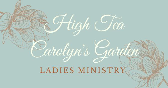 Annual June High Tea is postponed :(