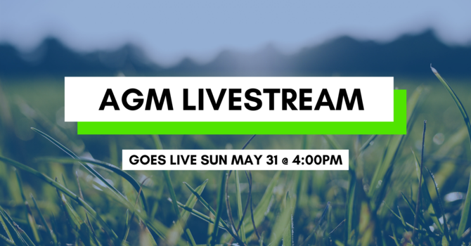 Join us Live at the AGM!