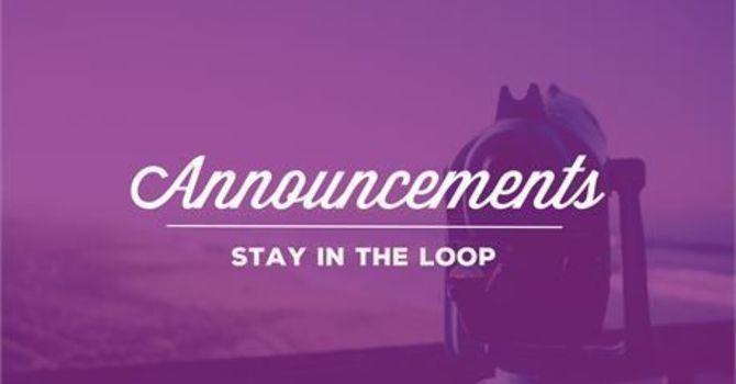 Church Services Announcement image