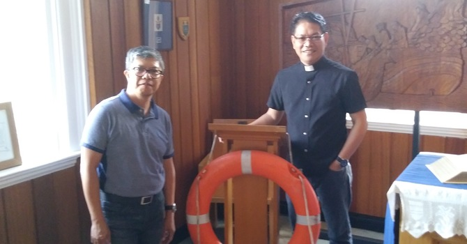 Chaplain visits from the Philippines image