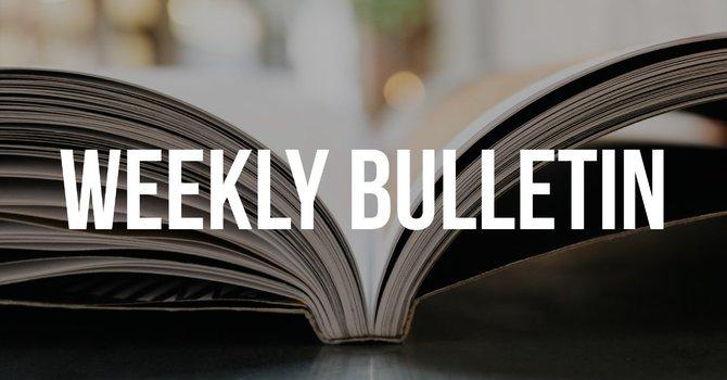 May 31st Bulletin