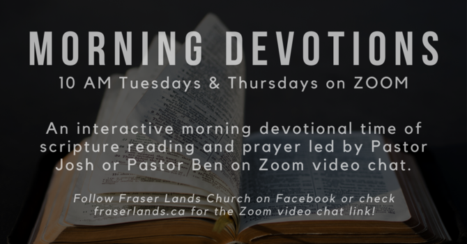 Morning Devotions image