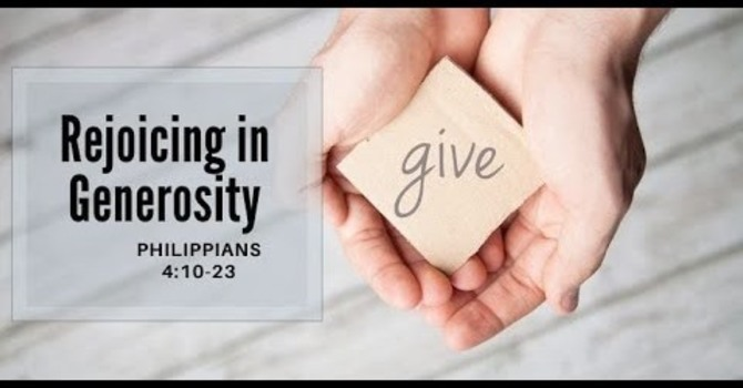 Rejoicing in Generosity