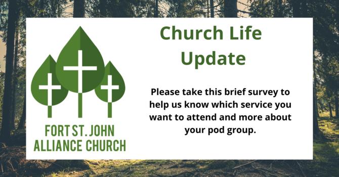 Church Life Update Survey! image