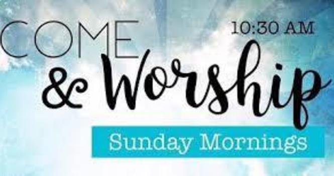 Join us for Worship 'Live' Sundays at 10:30 am on YouTube