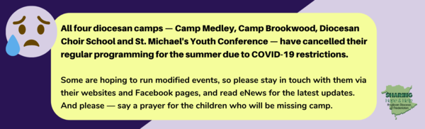 Camps cancelled