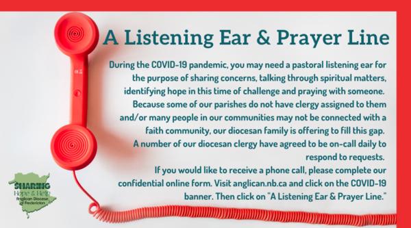 Listening ear and prayer line