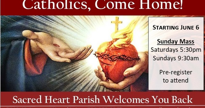 Public Masses Resume at Sacred Heart!