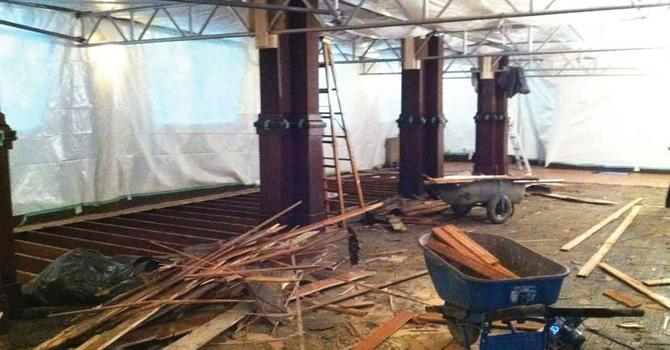 Renovations Well Underway at St. Mary's K! image