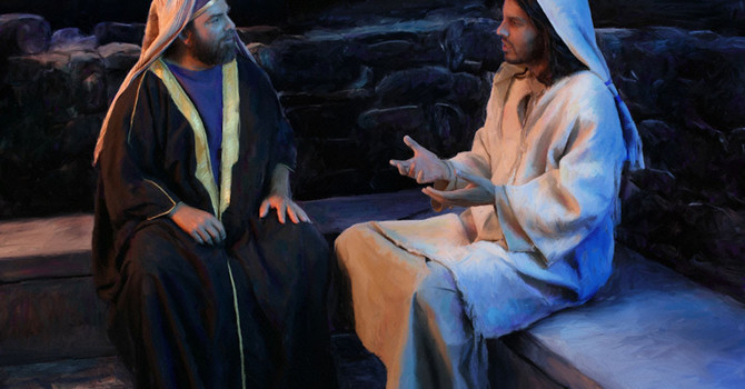 Story ~ Nicodemus Visits Jesus image