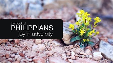 Philippians: Joy in Adversity