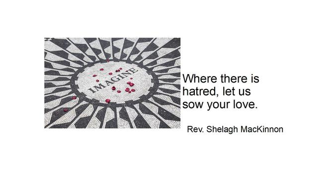 Where there is hatred: power point presentation image