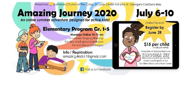 The Amazing Journey 2020 Virtual Camp - Registration Deadline June 26th image